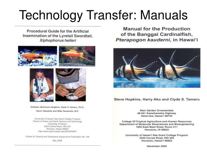 Technology Transfer: Manuals