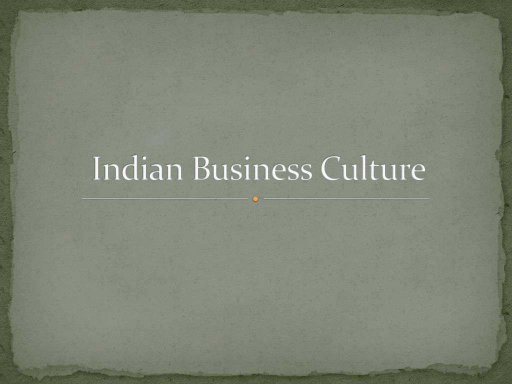indian business culture l.