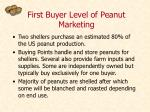 first buyer level of peanut marketing