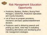 risk management education opportunity