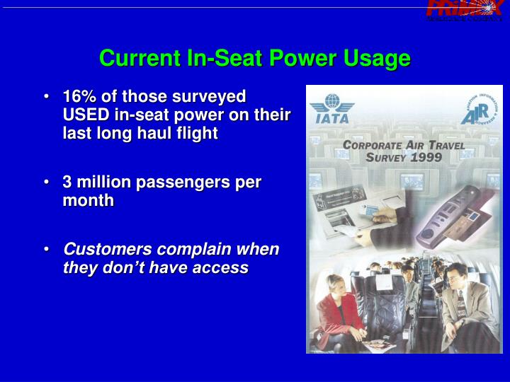 Current In-Seat Power Usage