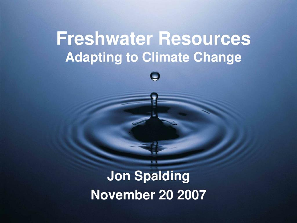 freshwater resources adapting to climate change l.