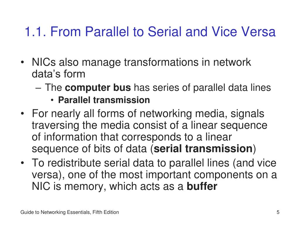 1.1. From Parallel to Serial and Vice Versa
