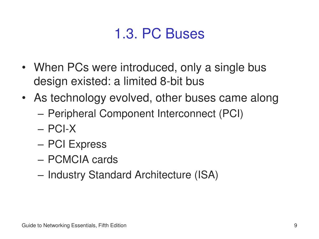 1.3. PC Buses