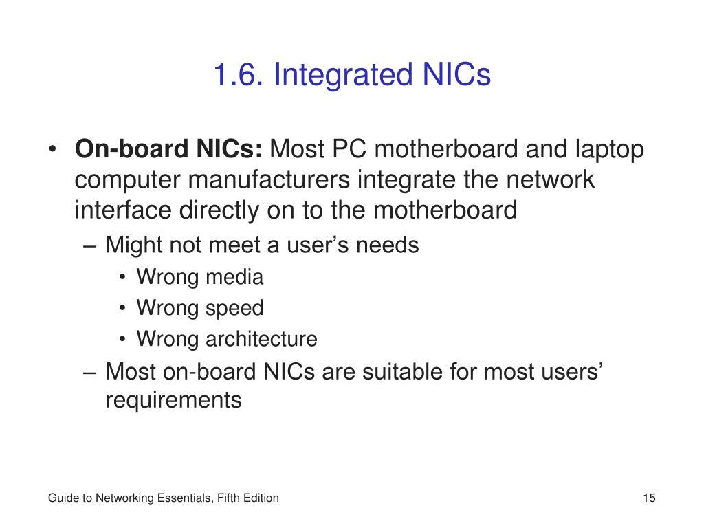 1.6. Integrated NICs
