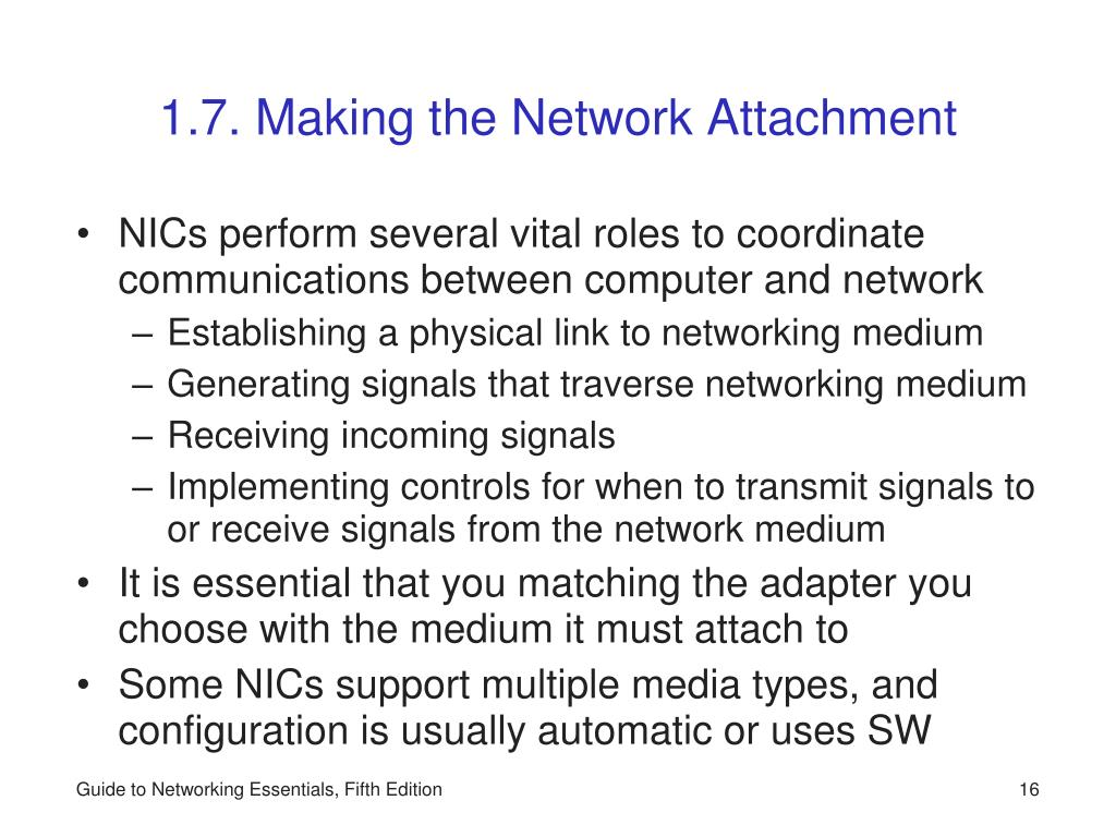 1.7. Making the Network Attachment