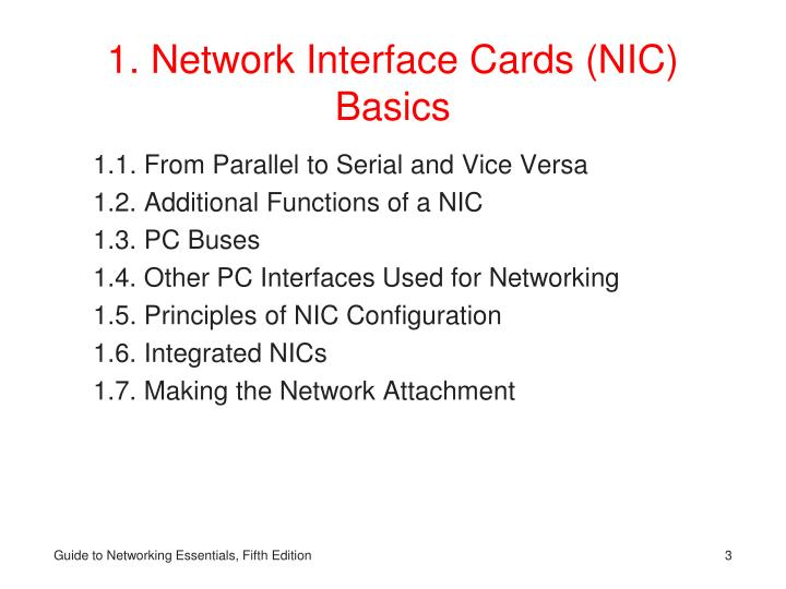 1 network interface cards nic basics