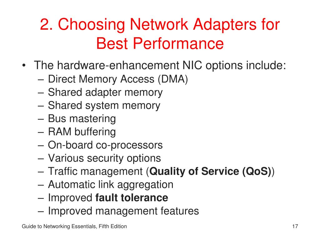 2. Choosing Network Adapters for Best Performance