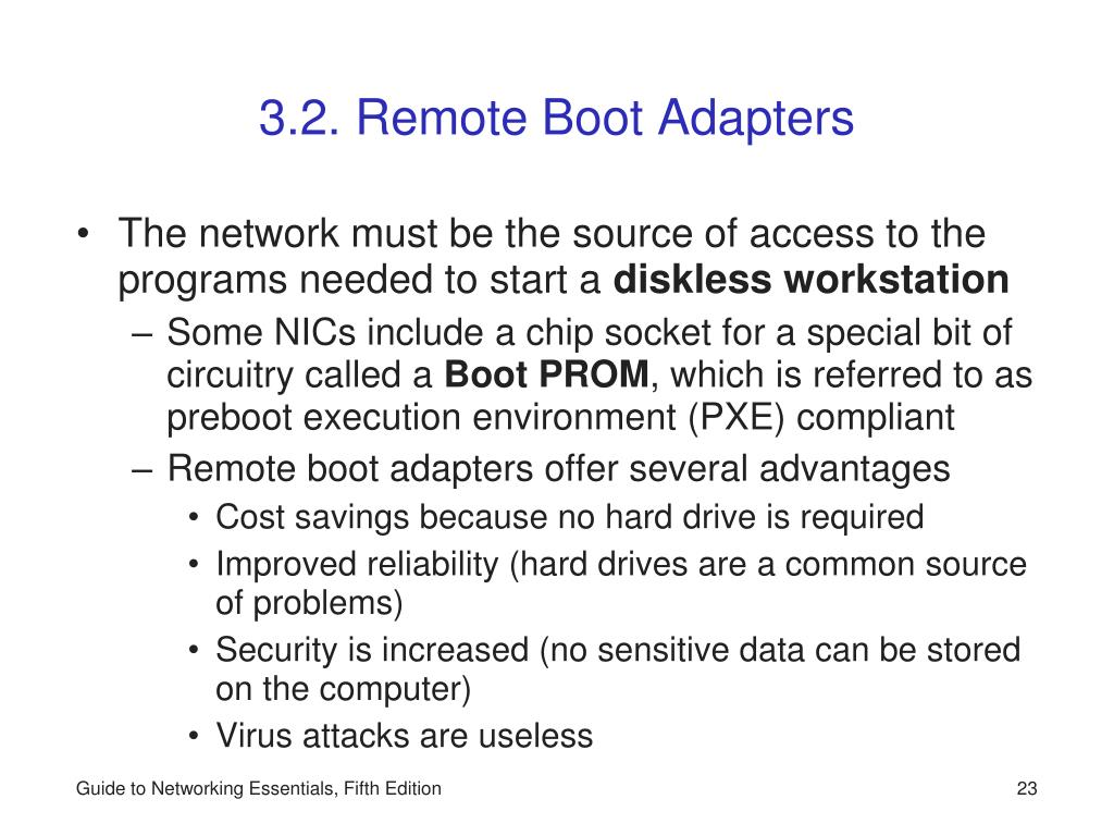 3.2. Remote Boot Adapters