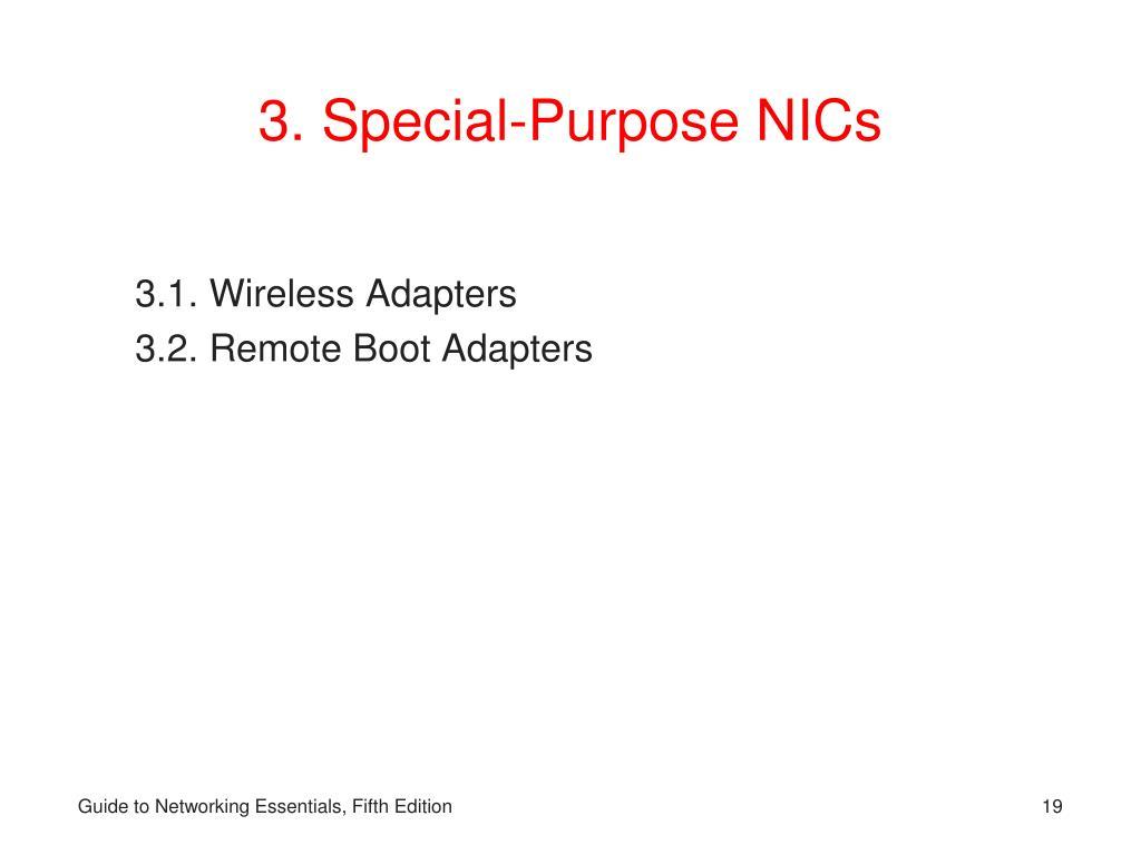 3. Special-Purpose NICs