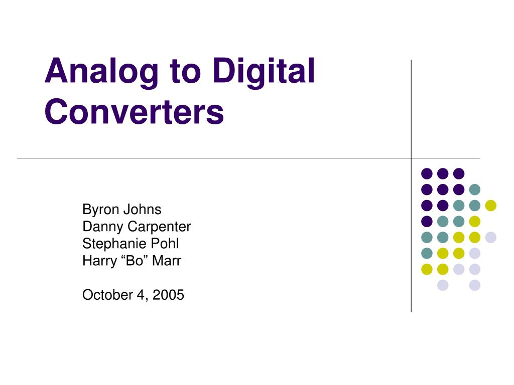 analog to digital converters l.