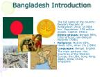bangladesh introduction