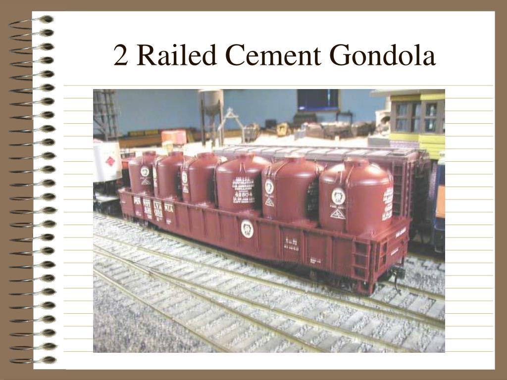 2 Railed Cement Gondola
