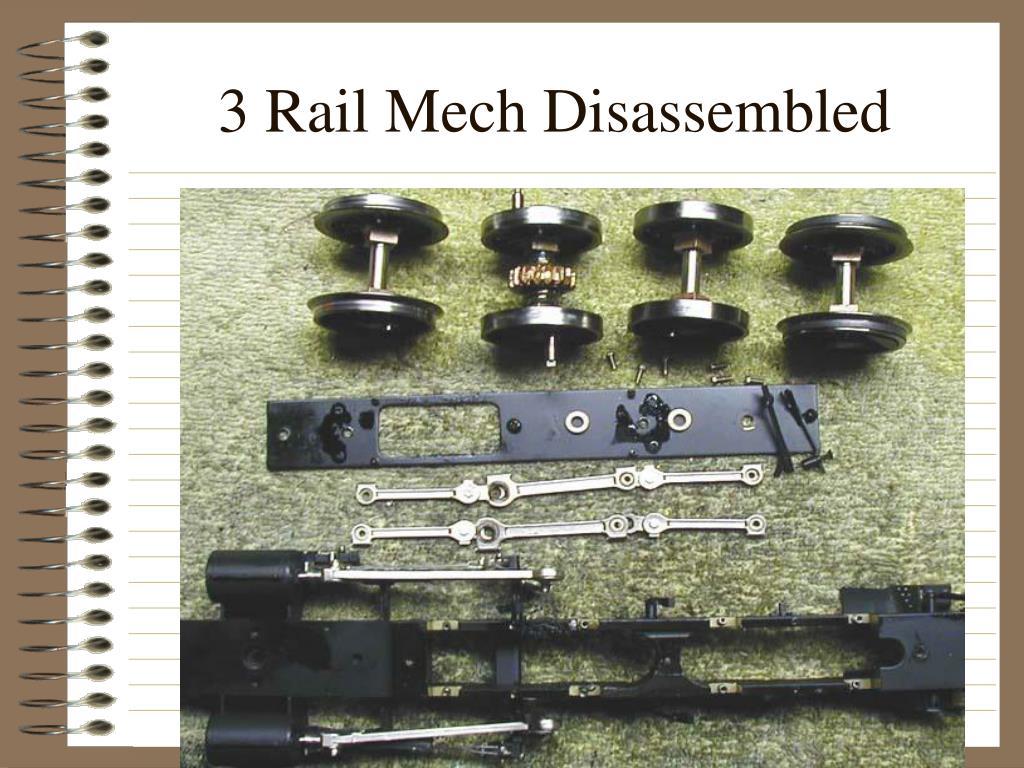 3 Rail Mech Disassembled