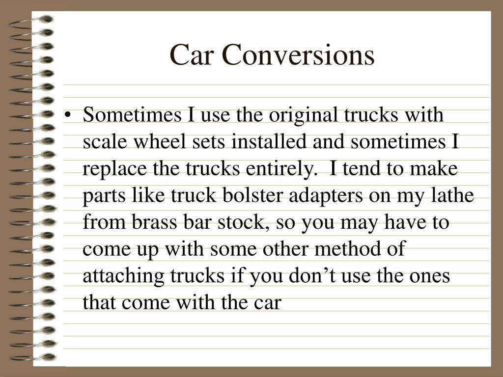 Car Conversions