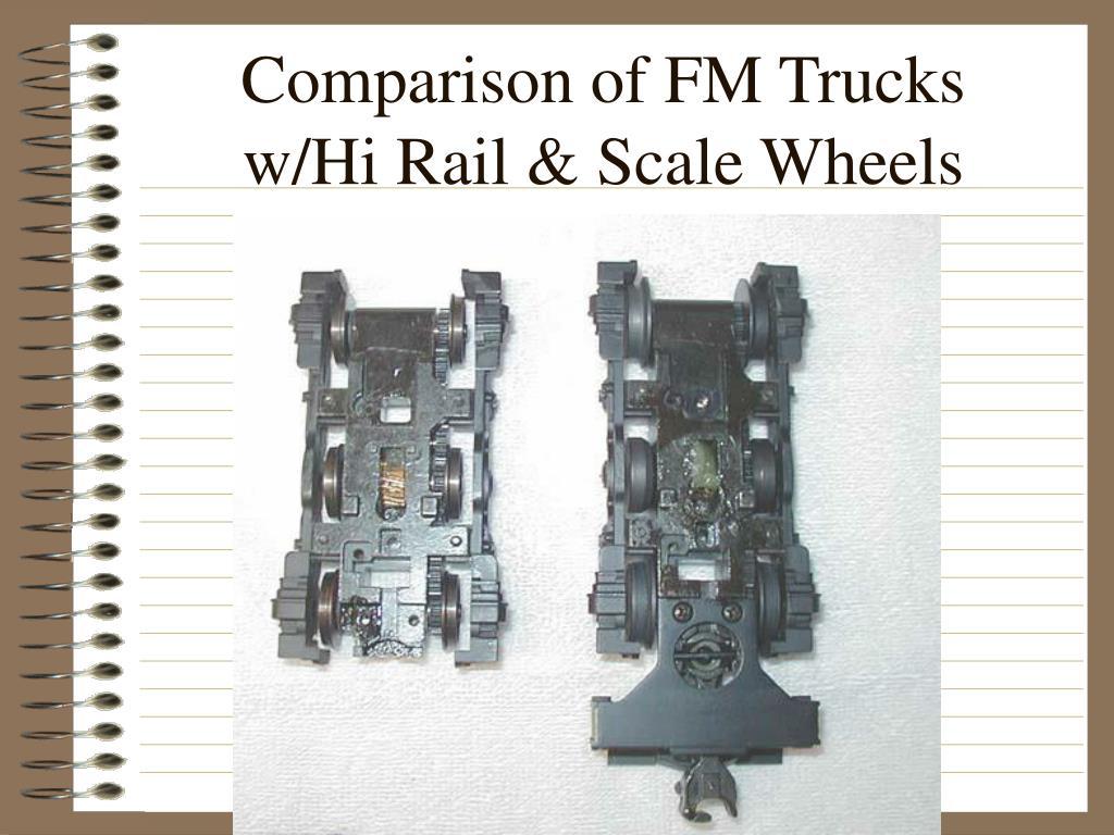 Comparison of FM Trucks