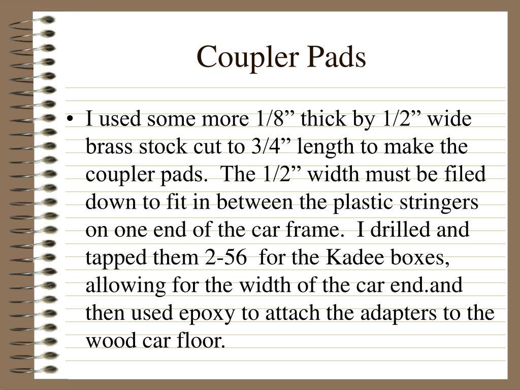 Coupler Pads