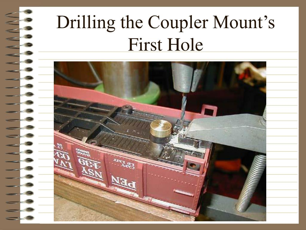 Drilling the Coupler Mount's
