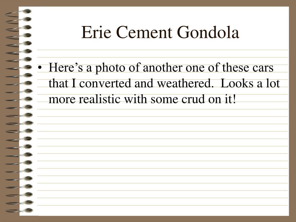 Erie Cement Gondola