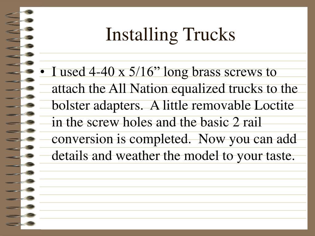 Installing Trucks