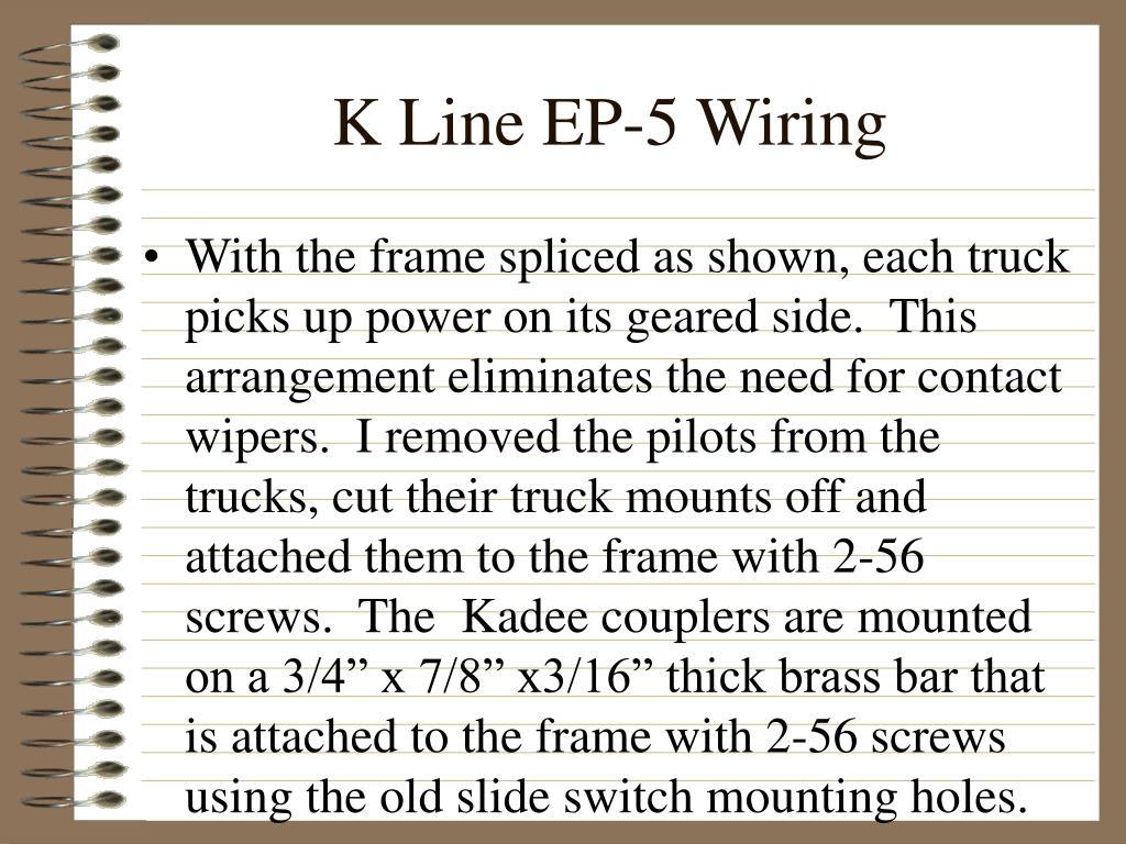 K Line EP-5 Wiring