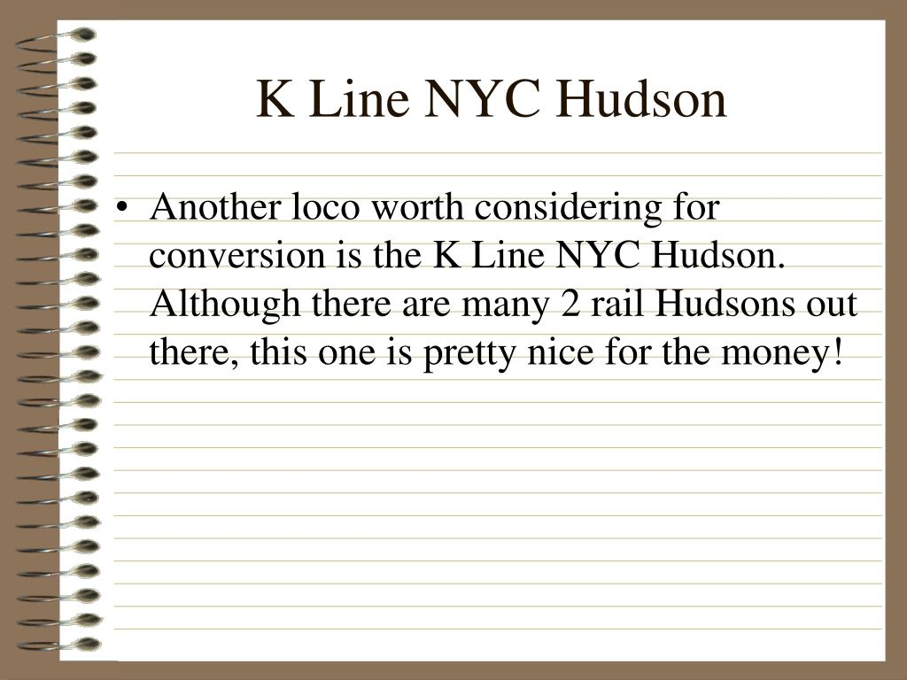 K Line NYC Hudson