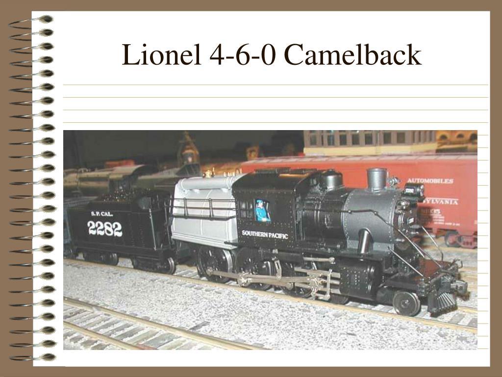 Lionel 4-6-0 Camelback