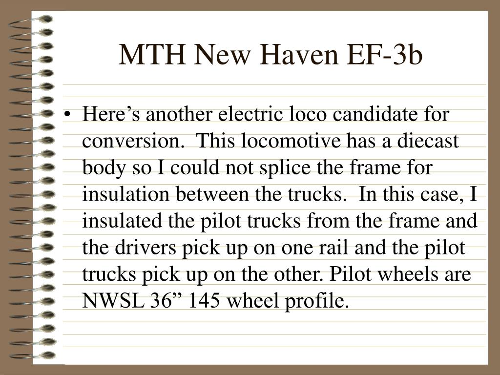 MTH New Haven EF-3b