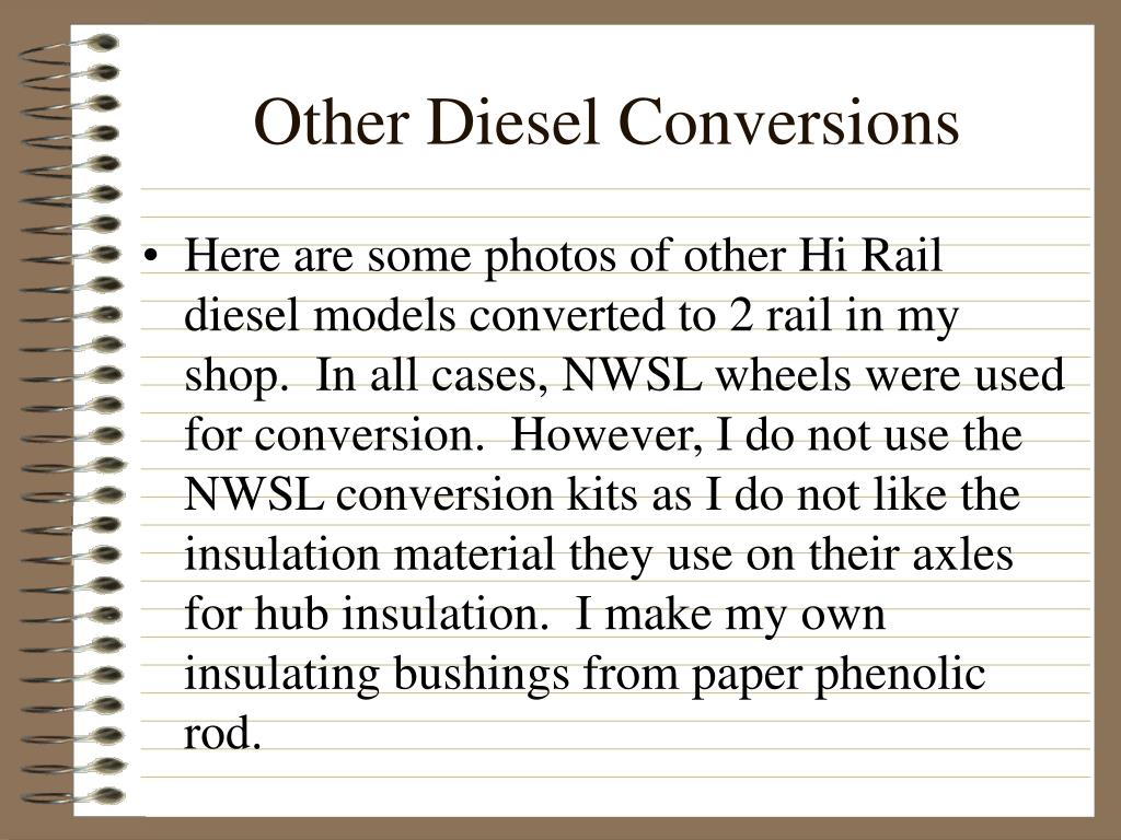 Other Diesel Conversions