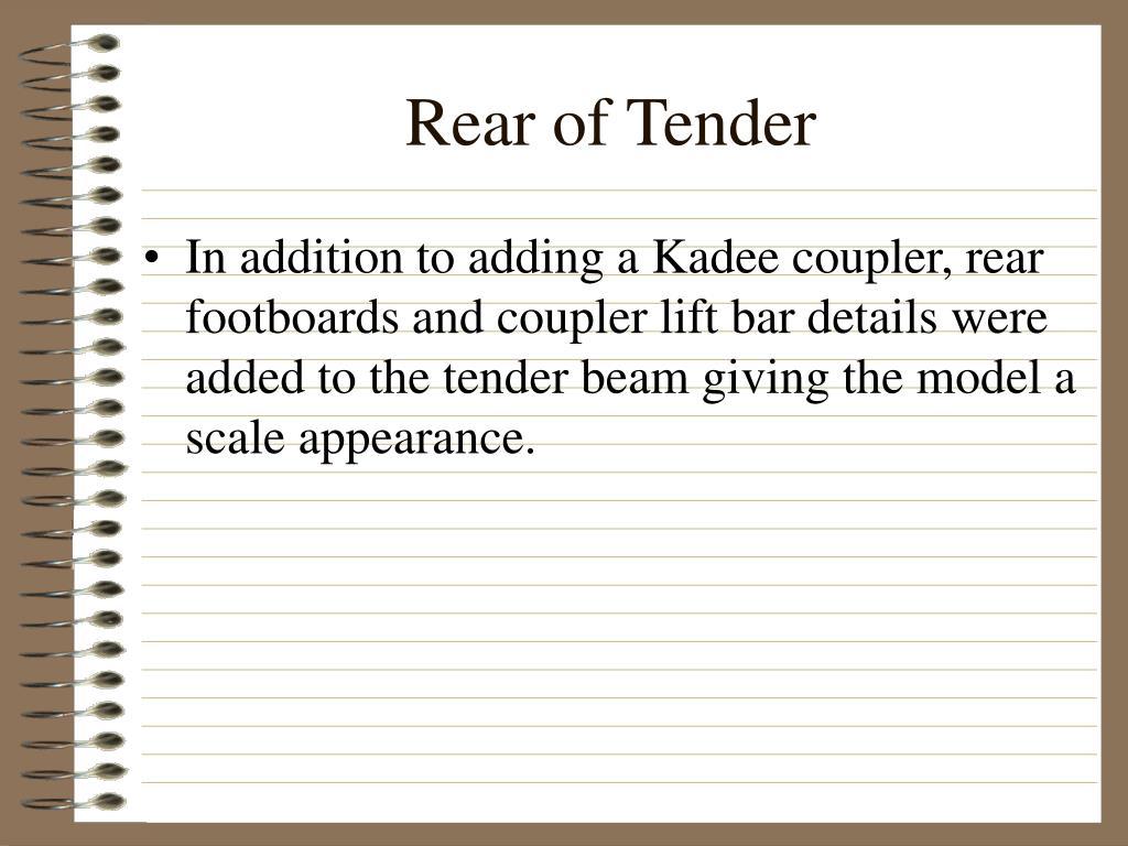 Rear of Tender