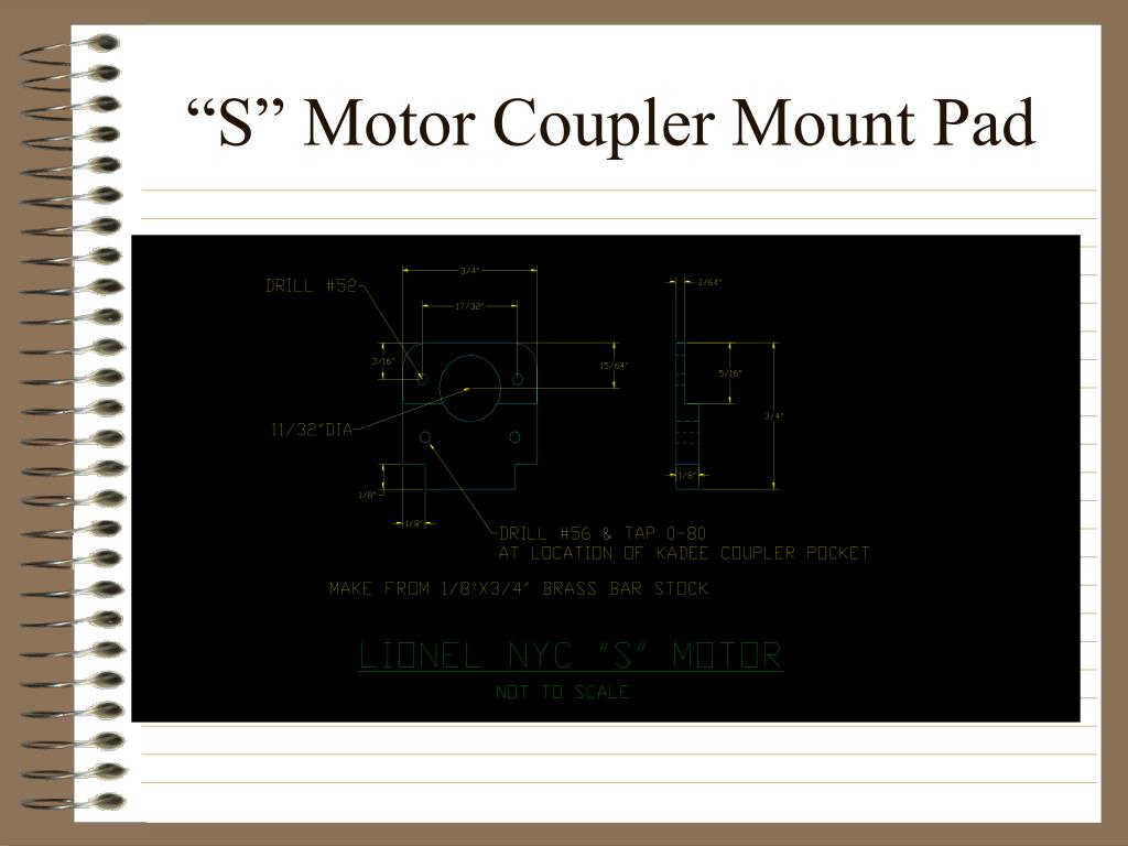 """S"" Motor Coupler Mount Pad"