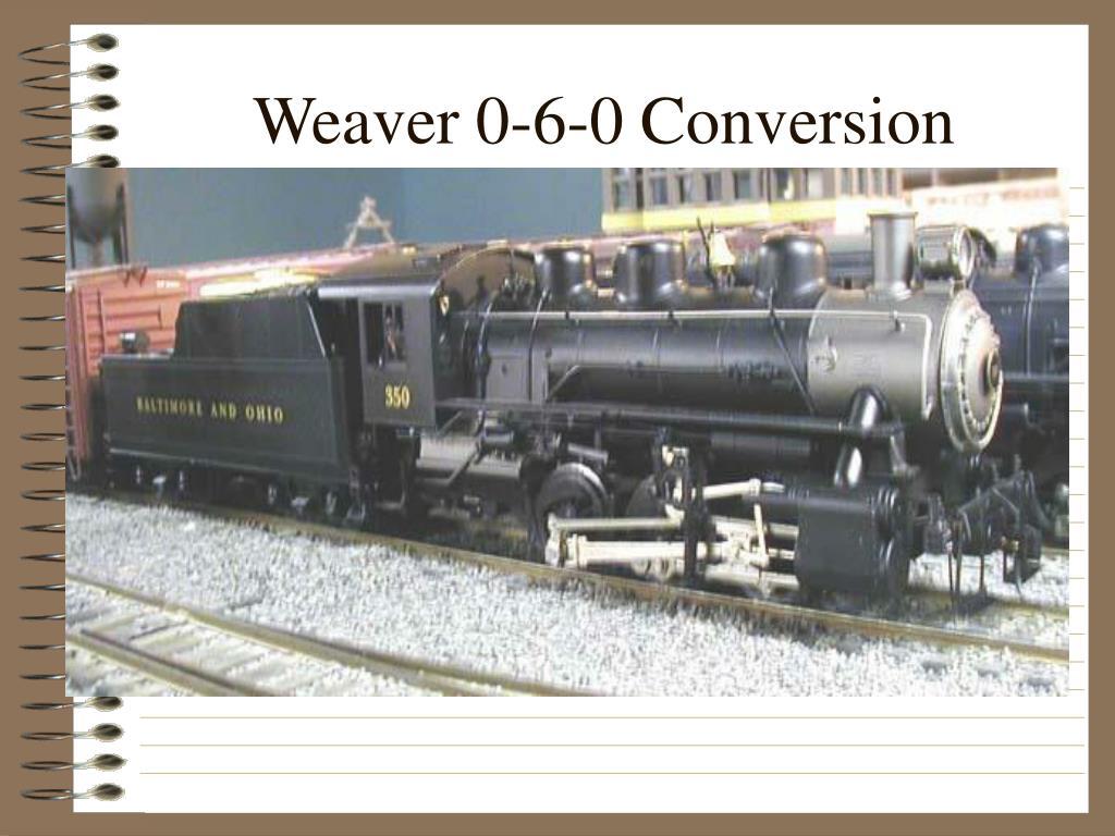 Weaver 0-6-0 Conversion