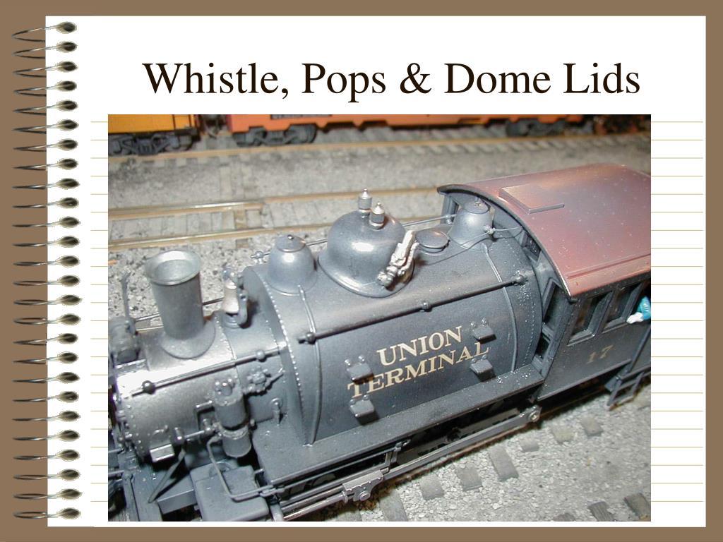 Whistle, Pops & Dome Lids