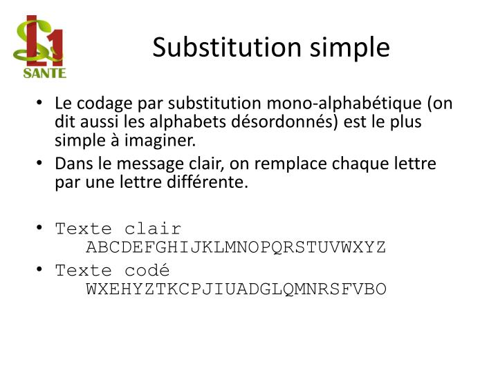 Substitution simple