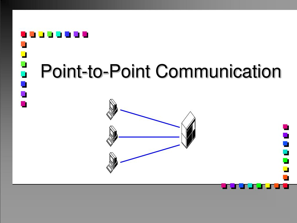 point to point communication l.
