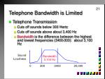 telephone bandwidth is limited