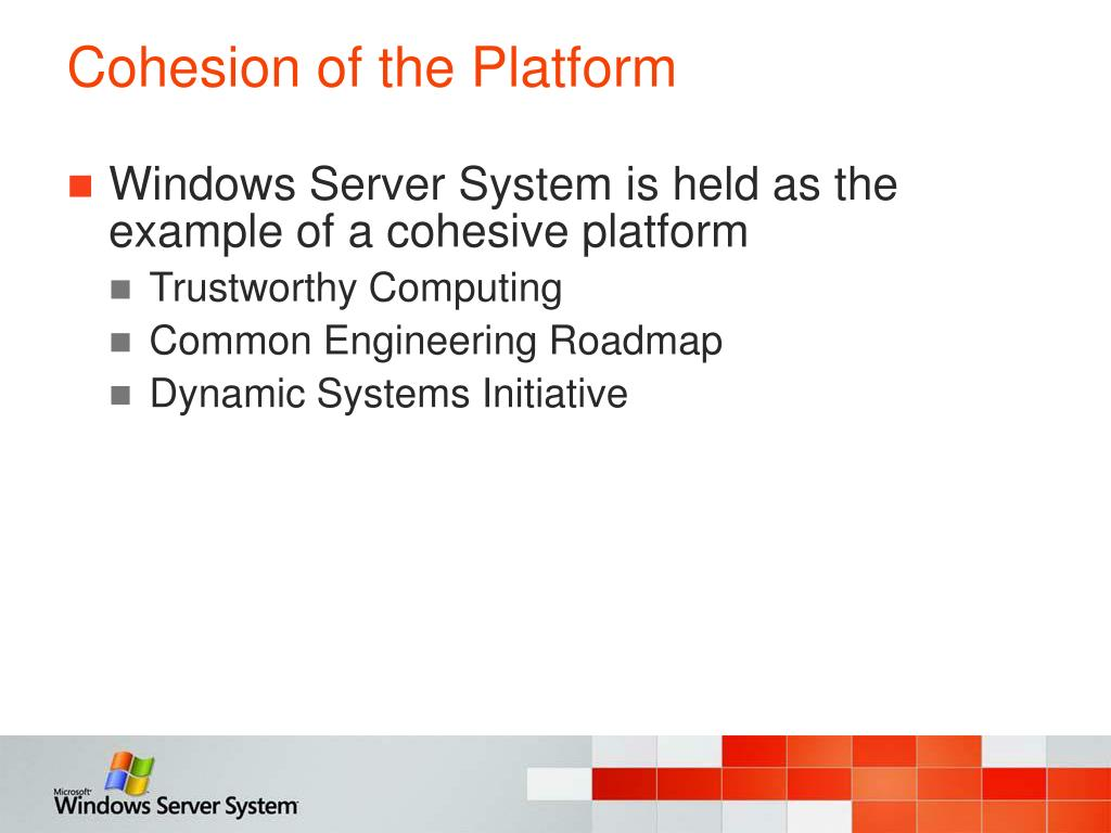 Cohesion of the Platform