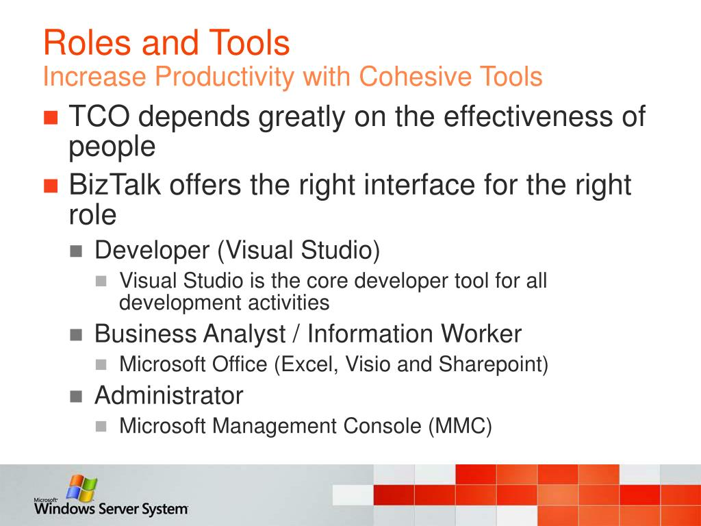 Roles and Tools