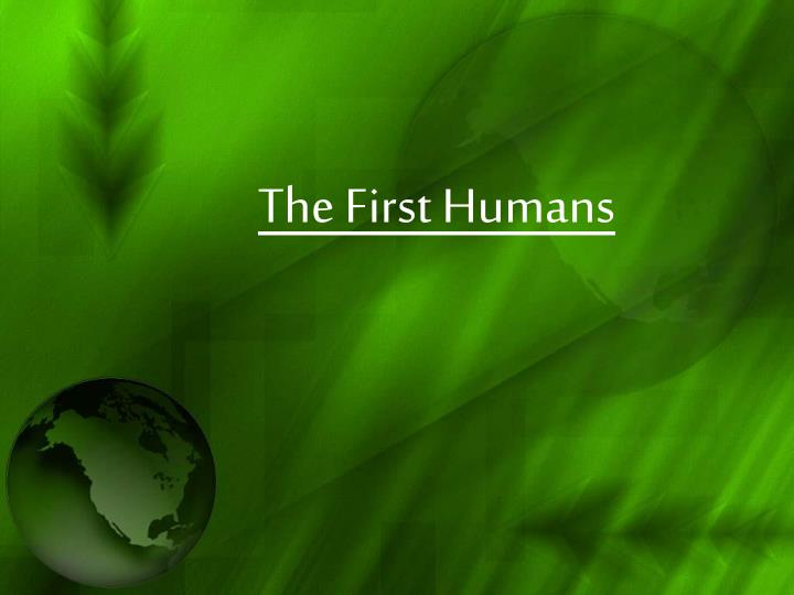 the first humans n.