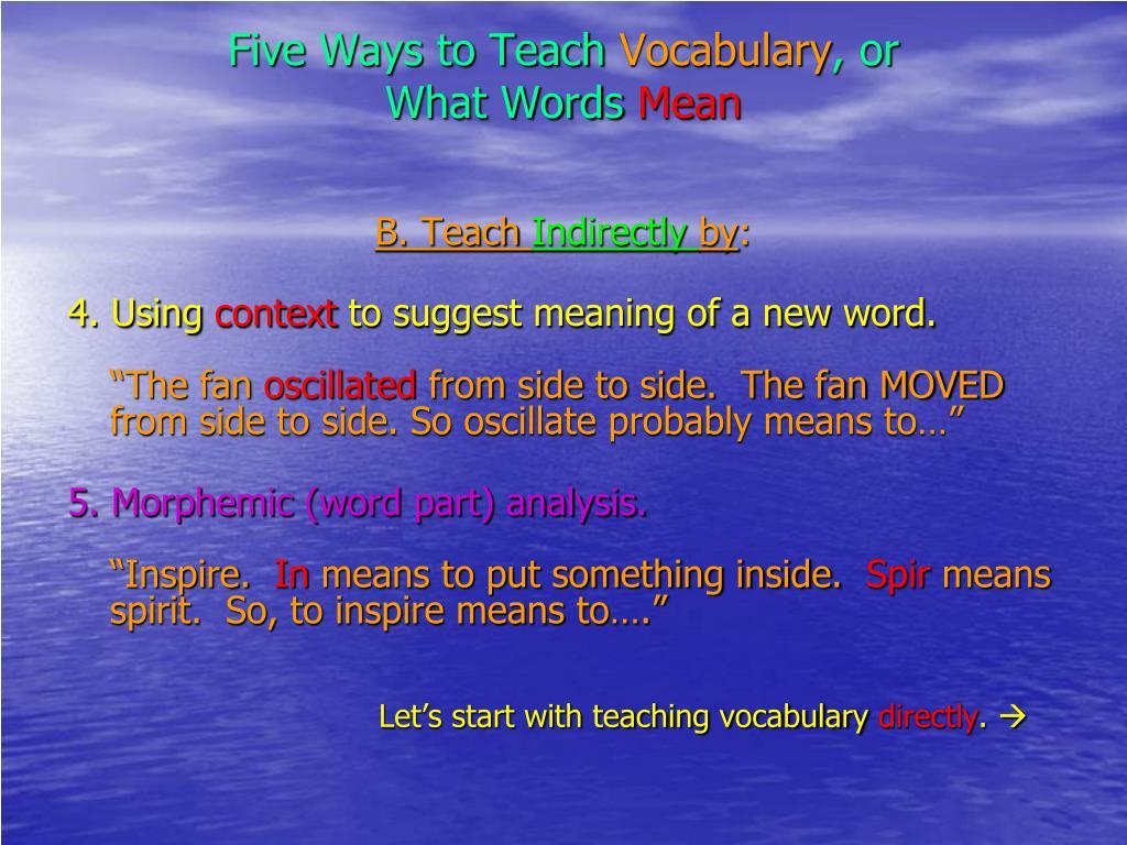Five Ways to Teach