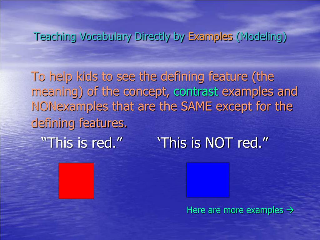 Teaching Vocabulary Directly by
