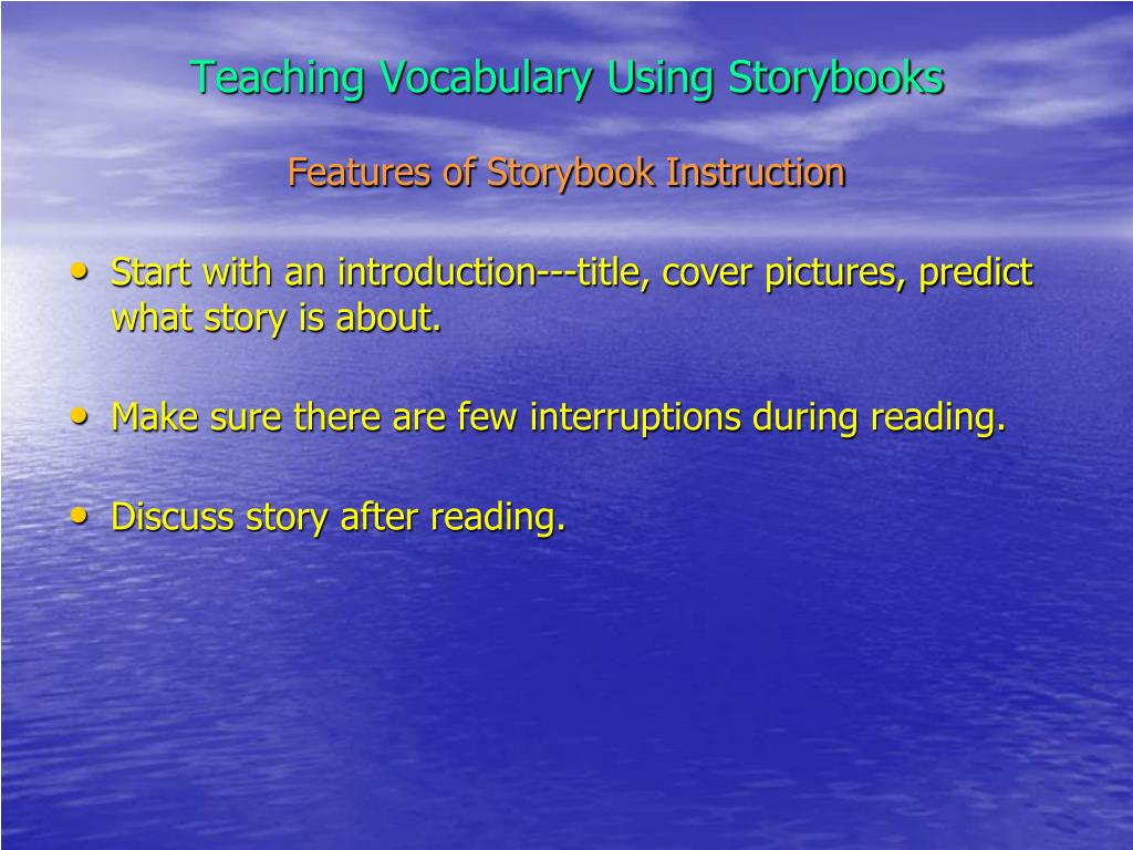 Teaching Vocabulary Using Storybooks