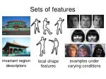 sets of features1