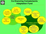 co financing complements adaptation fund