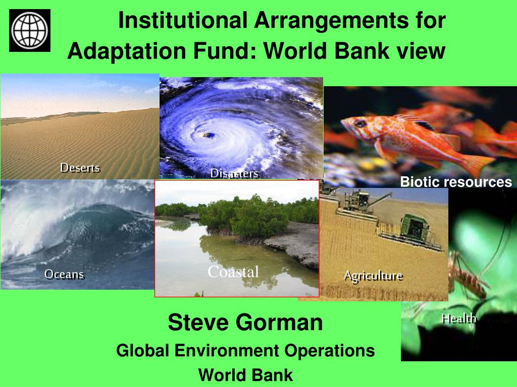 institutional arrangements for adaptation fund world bank view l.