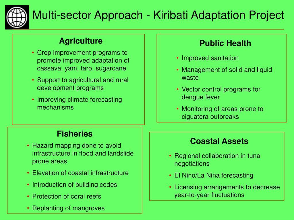 Multi-sector Approach - Kiribati Adaptation Project