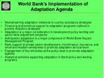 world bank s implementation of adaptation agenda