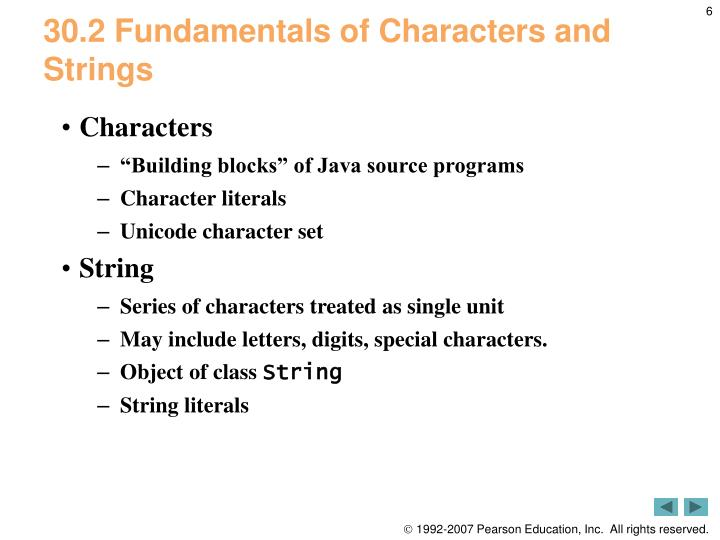 30.2 Fundamentals of Characters and Strings