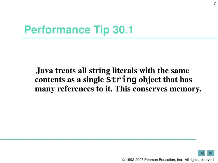 Performance Tip 30.1