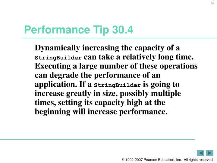 Performance Tip 30.4